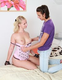This horny teen is going to be the most popular item on the menu soon. It`s because she`s smoking hot and loves to make men cum. She even likes it when the cum on her.